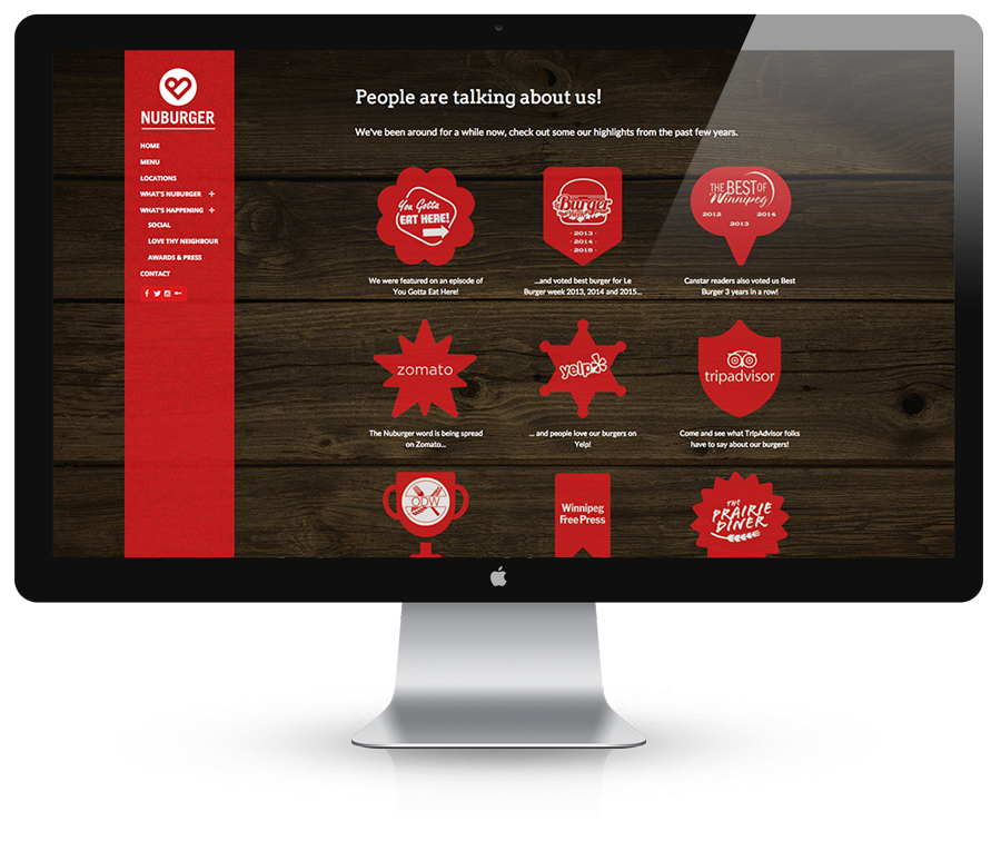 Website Awards Page Design